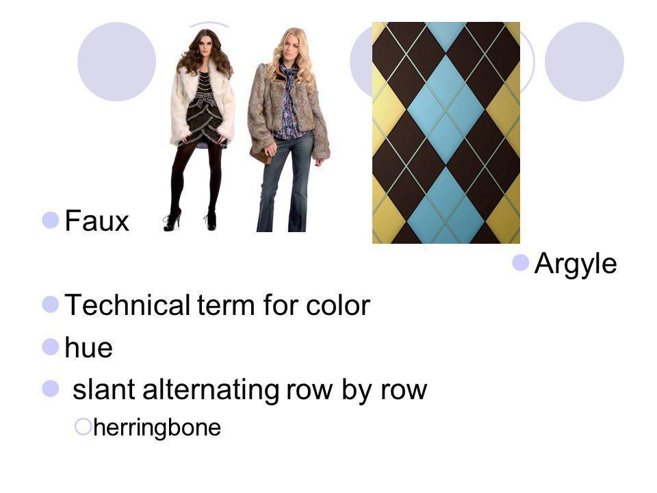 Technical term for color hue slant alternating row by row