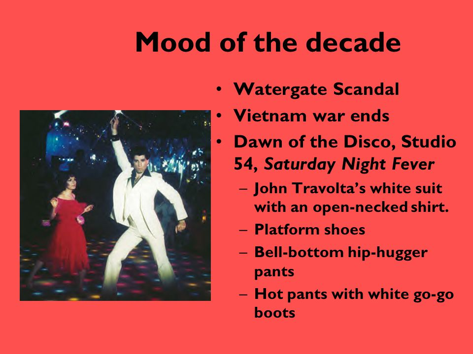 Mood of the decade Watergate Scandal Vietnam war ends