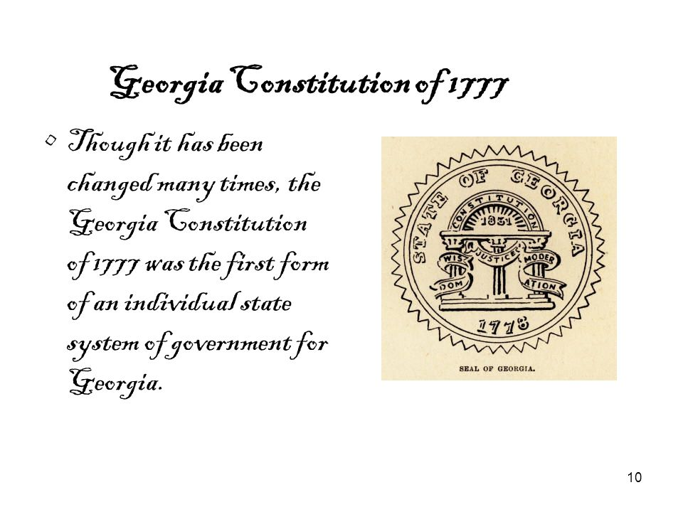 Georgia Constitution of 1777