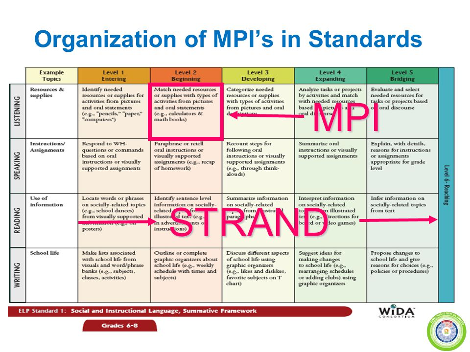 Organization of MPI's in Standards