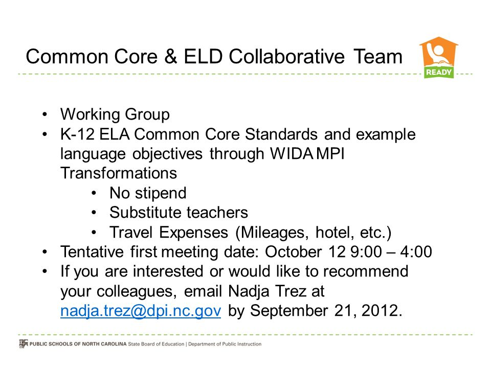 Common Core & ELD Collaborative Team