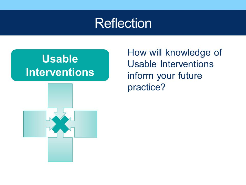 Reflection Usable Interventions