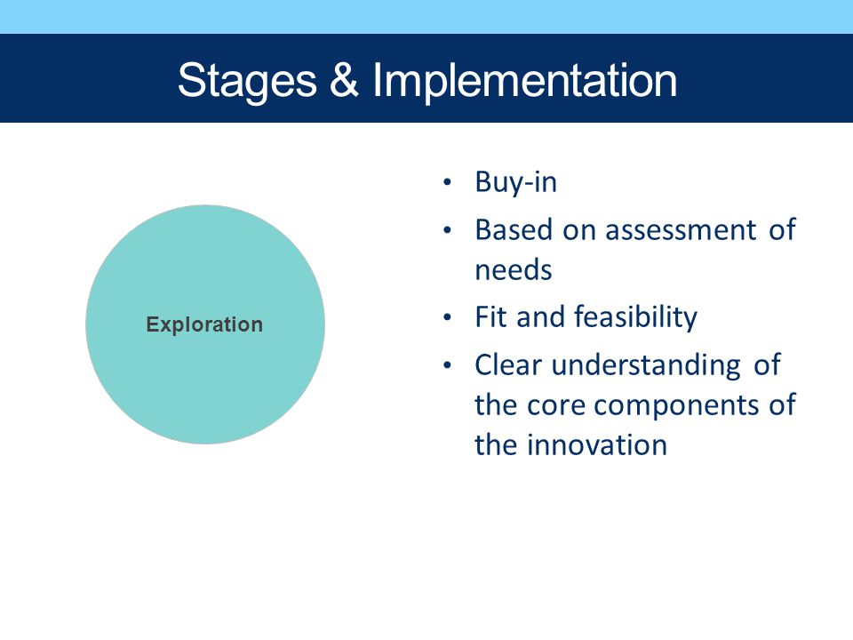 Stages & Implementation