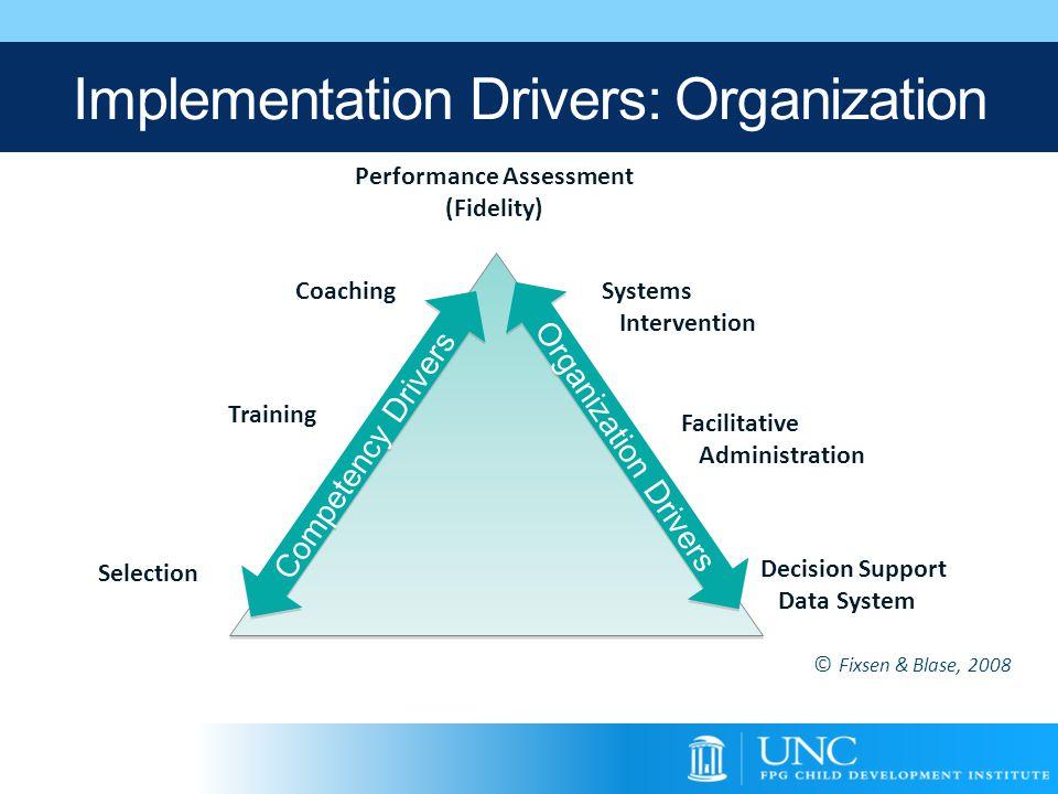 Implementation Drivers: Organization