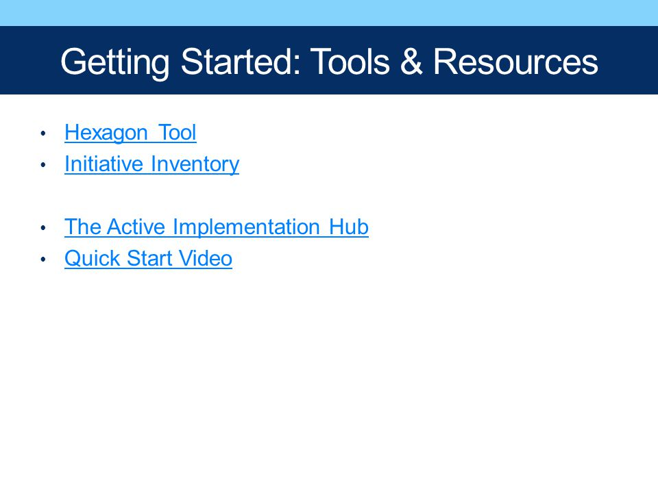 Getting Started: Tools & Resources