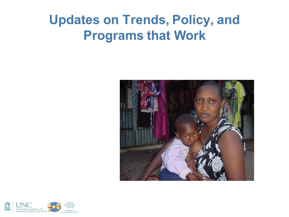 Updates on Trends, Policy, and Programs that Work