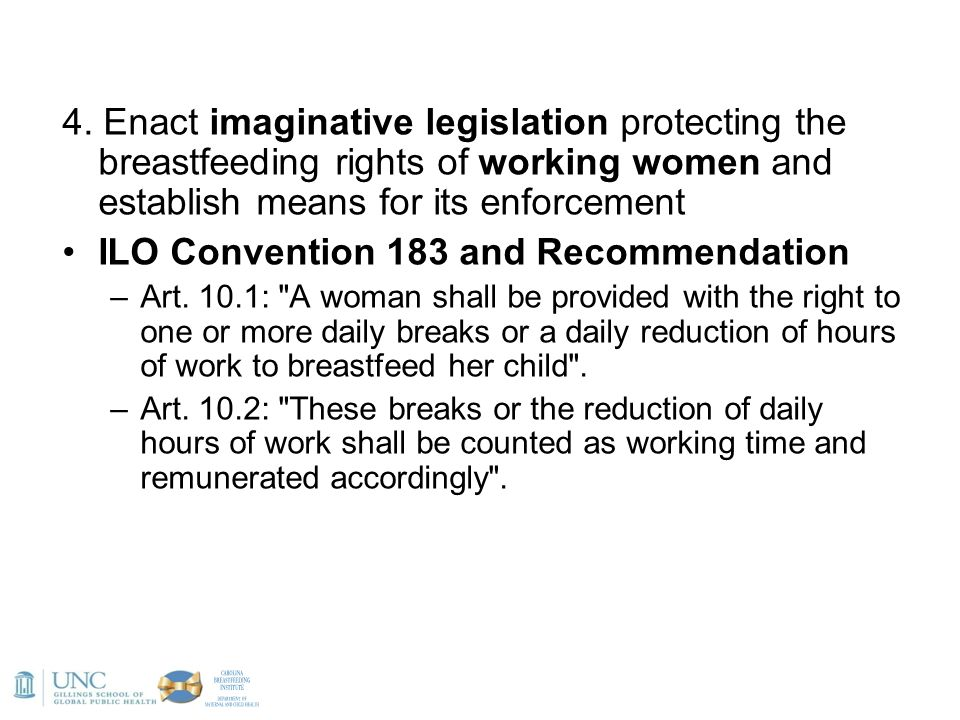 ILO Convention 183 and Recommendation