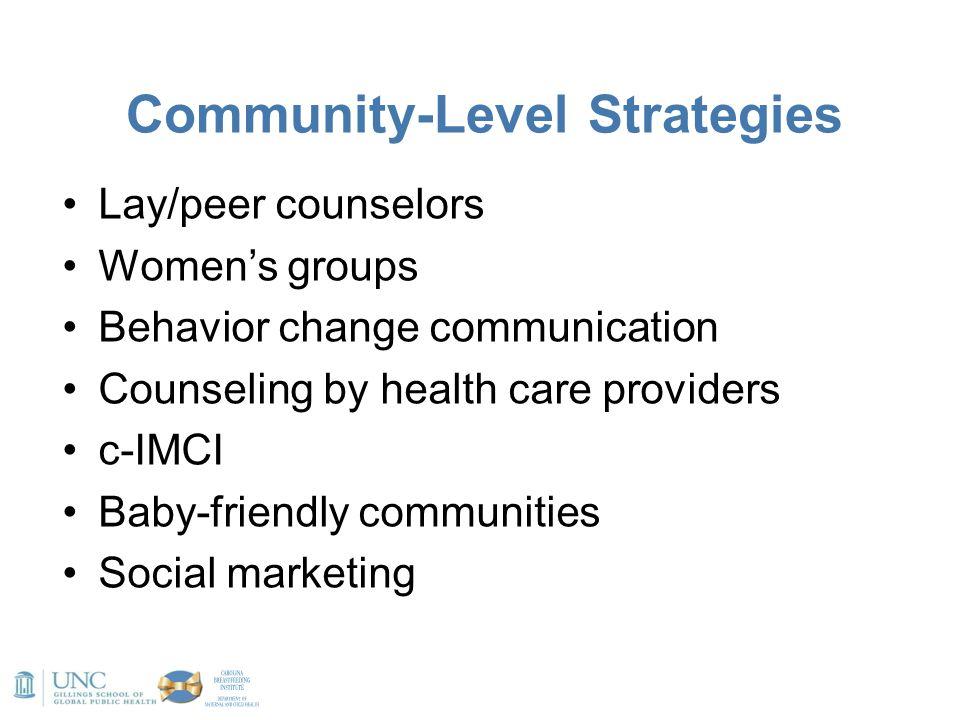 Community-Level Strategies
