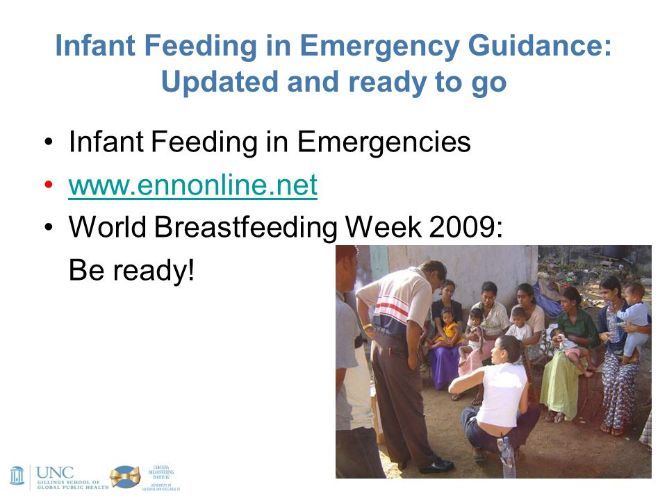 Infant Feeding in Emergency Guidance: Updated and ready to go