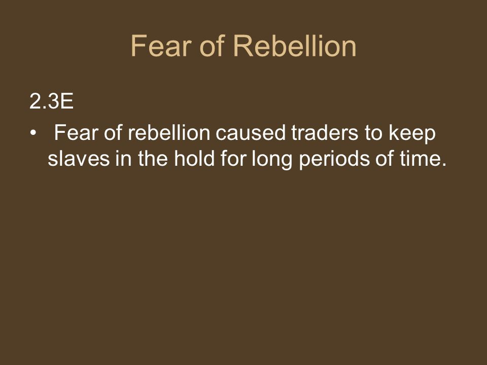Fear of Rebellion 2.3E.