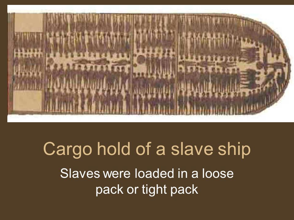 Cargo hold of a slave ship