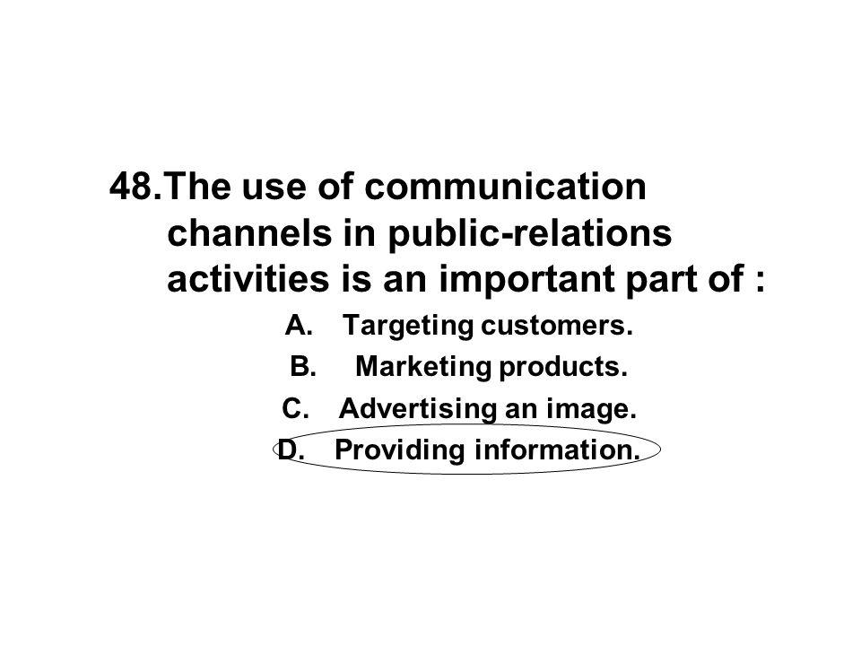 Providing information.