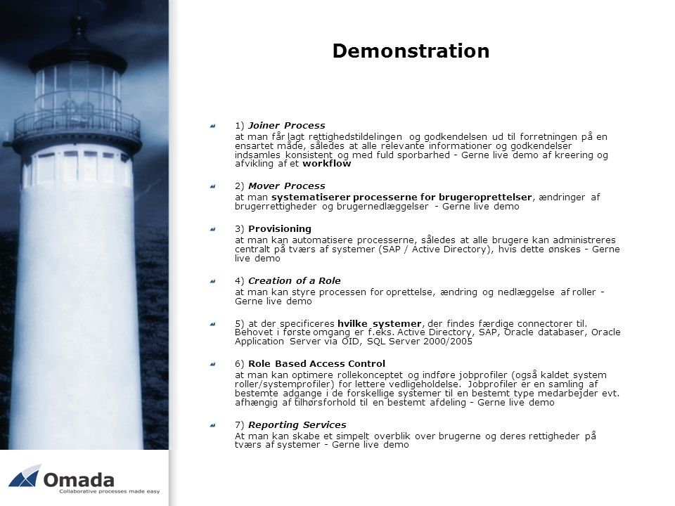 Demonstration 1) Joiner Process