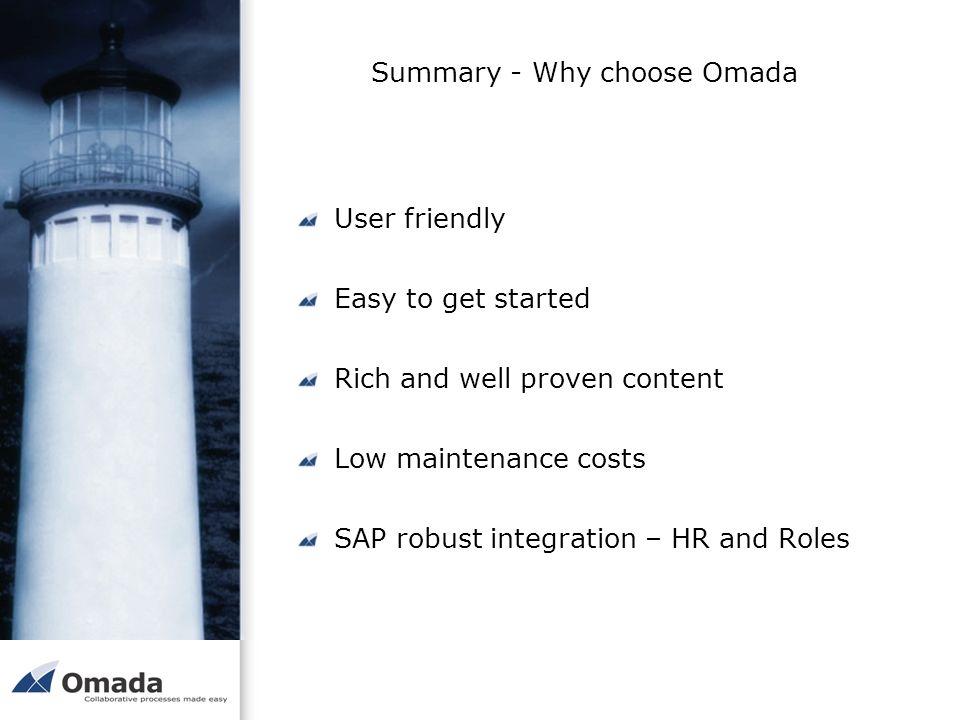 Summary - Why choose Omada
