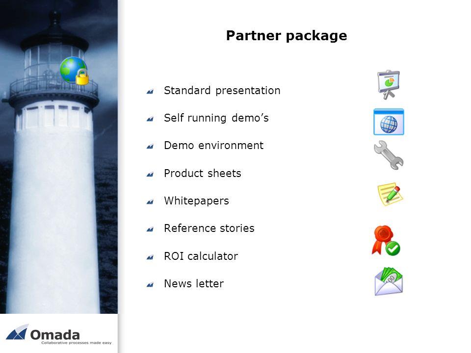 Partner package Standard presentation Self running demo's
