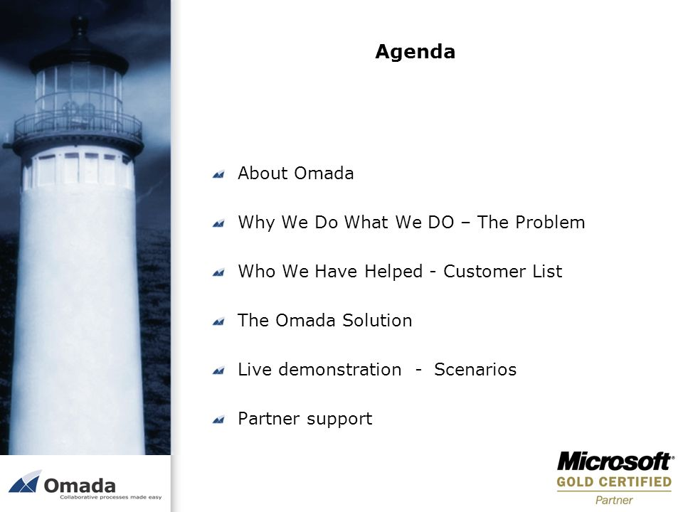 Agenda About Omada Why We Do What We DO – The Problem