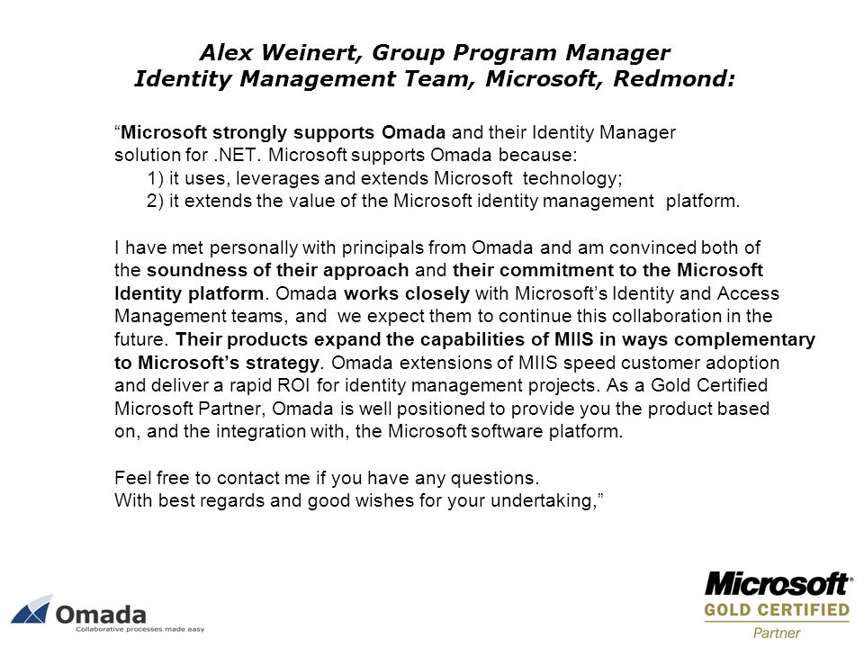 Alex Weinert, Group Program Manager Identity Management Team, Microsoft, Redmond: