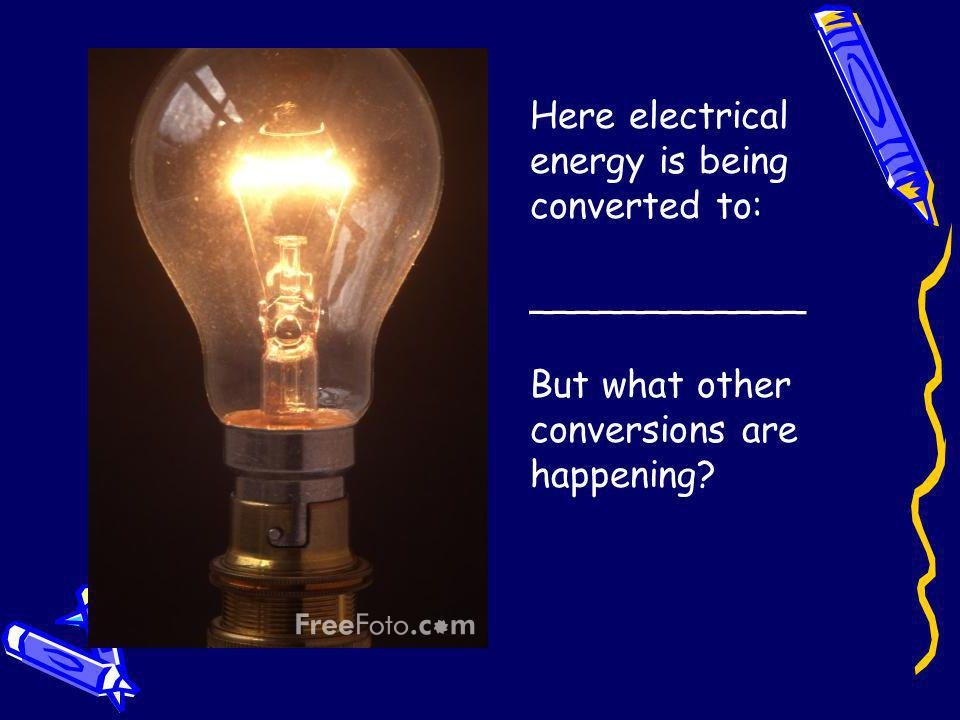 Here electrical energy is being converted to: