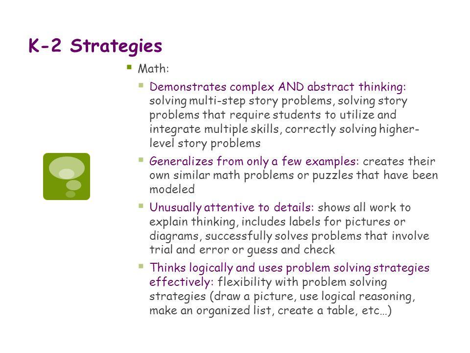 K-2 Strategies Math:
