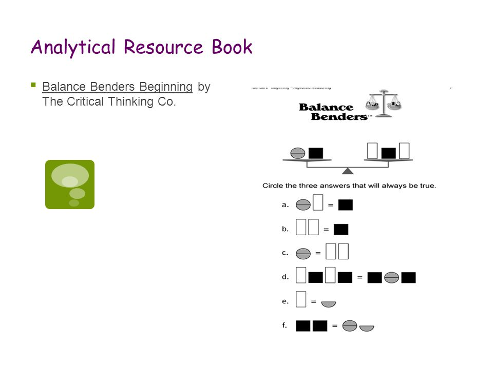 Analytical Resource Book