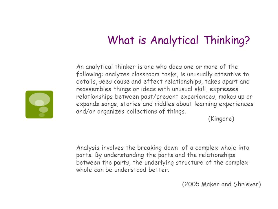 What is Analytical Thinking