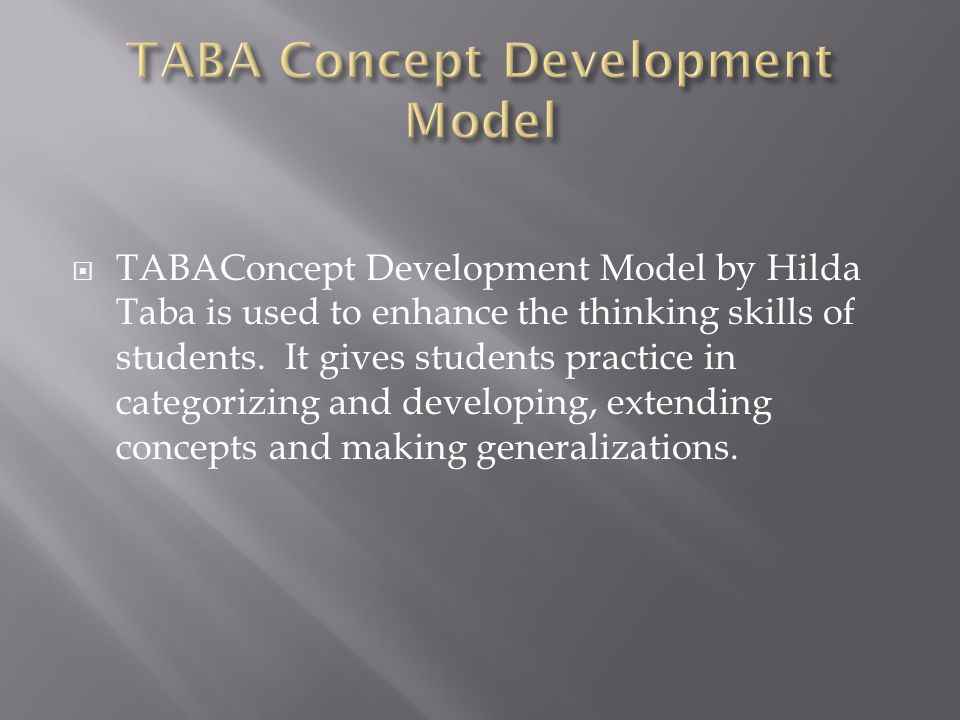 TABA Concept Development Model