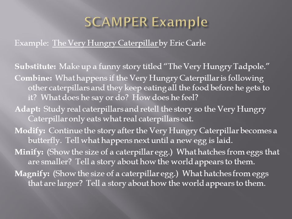 SCAMPER Example