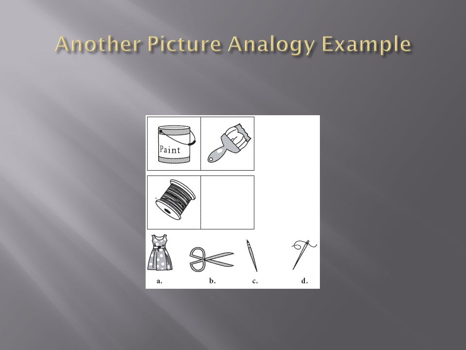 Another Picture Analogy Example