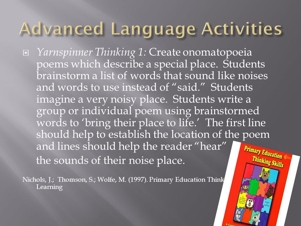 Advanced Language Activities