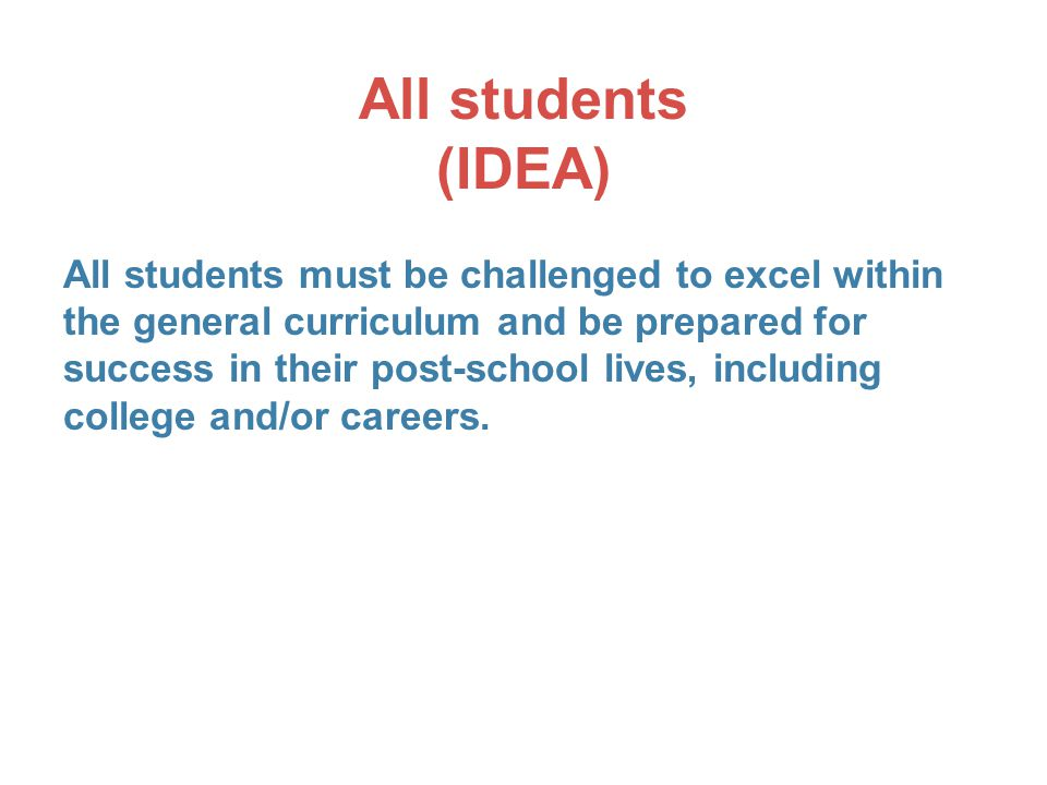 All students (IDEA)