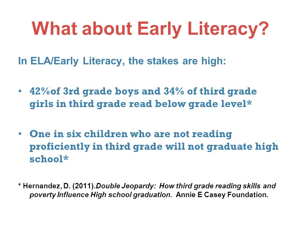 What about Early Literacy