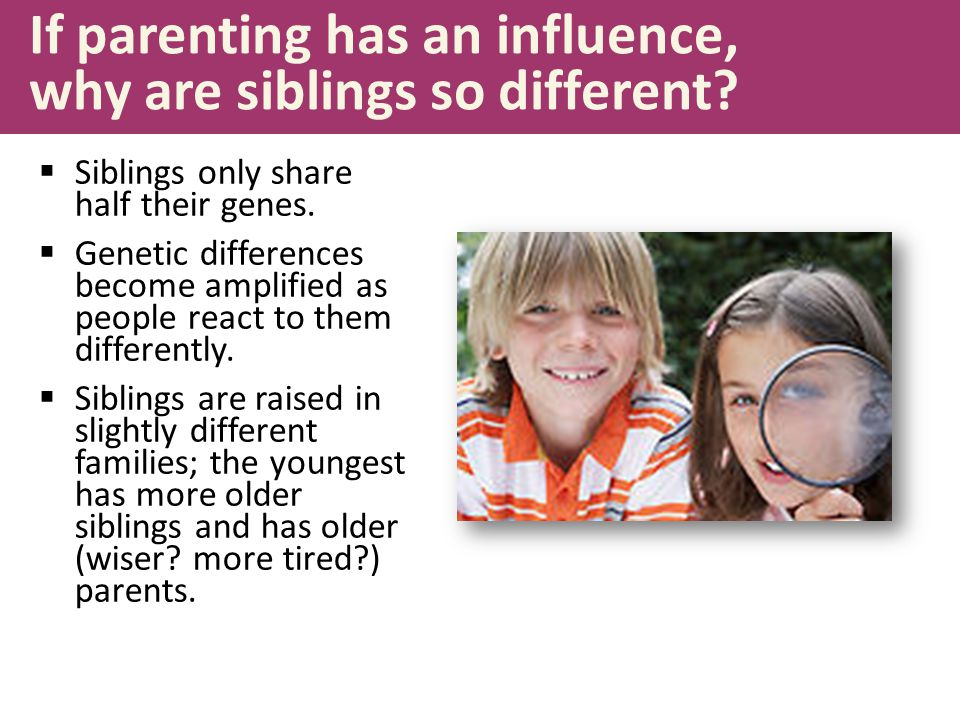 If parenting has an influence, why are siblings so different