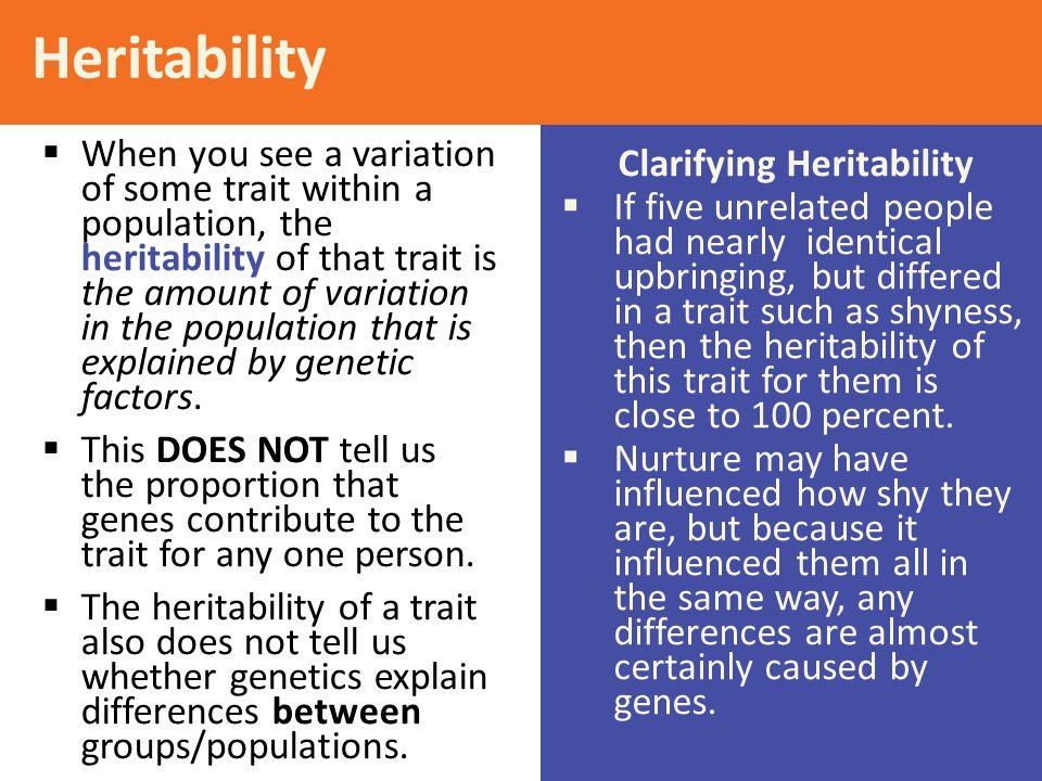 Clarifying Heritability