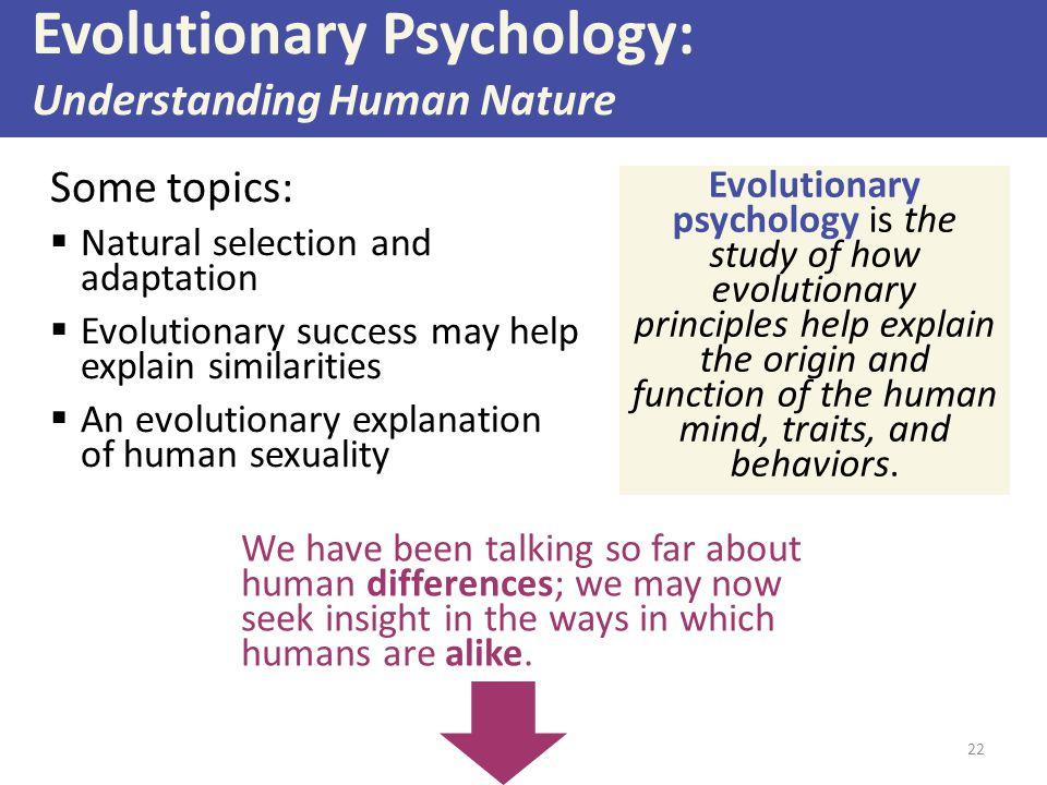 Evolutionary Psychology: