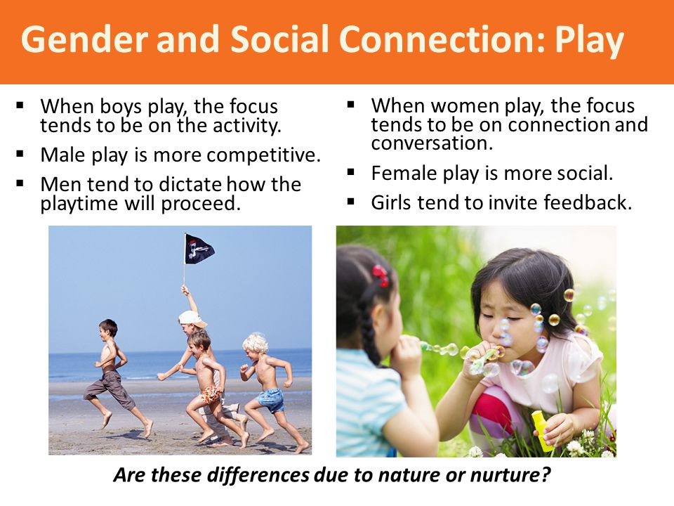 Gender and Social Connection: Play