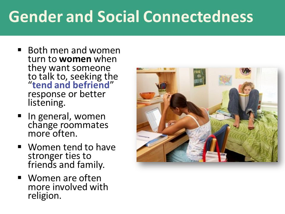 Gender and Social Connectedness