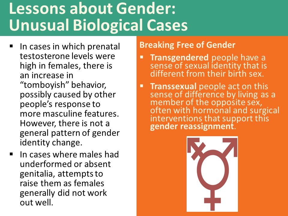 Lessons about Gender: Unusual Biological Cases