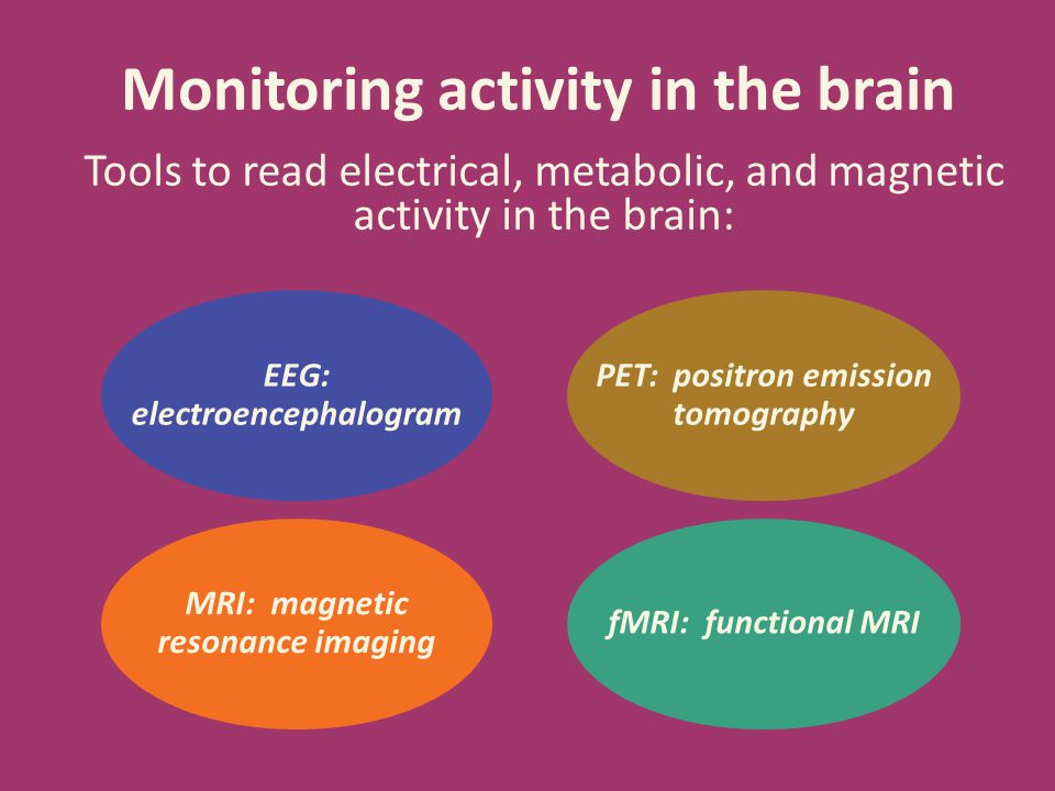 Monitoring activity in the brain