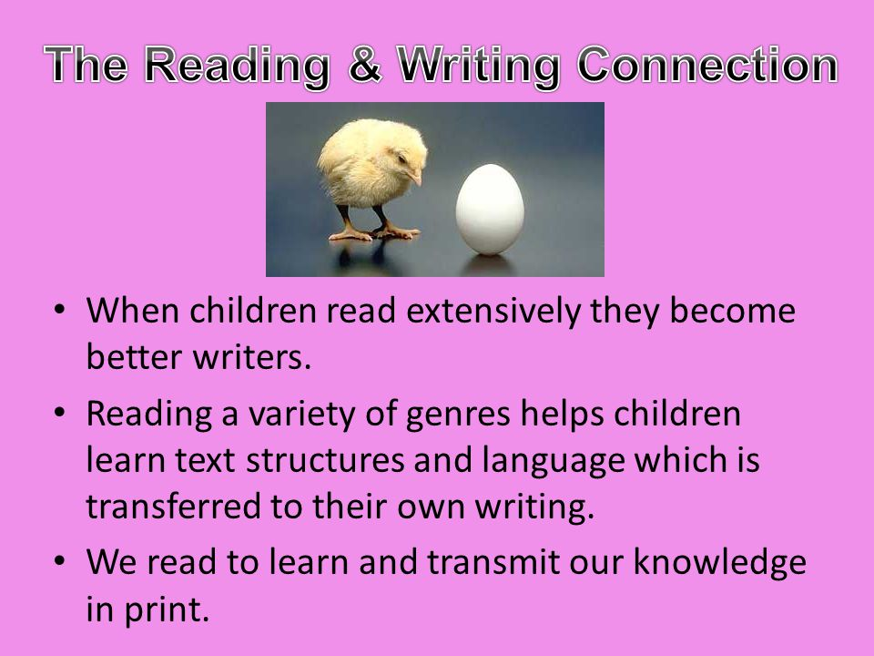 The Reading & Writing Connection