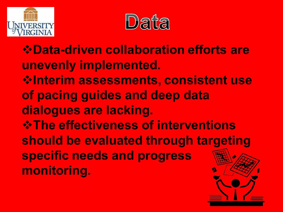 Data Data-driven collaboration efforts are unevenly implemented.