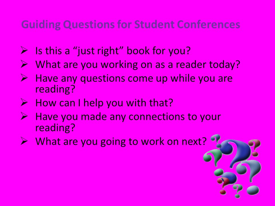 Guiding Questions for Student Conferences