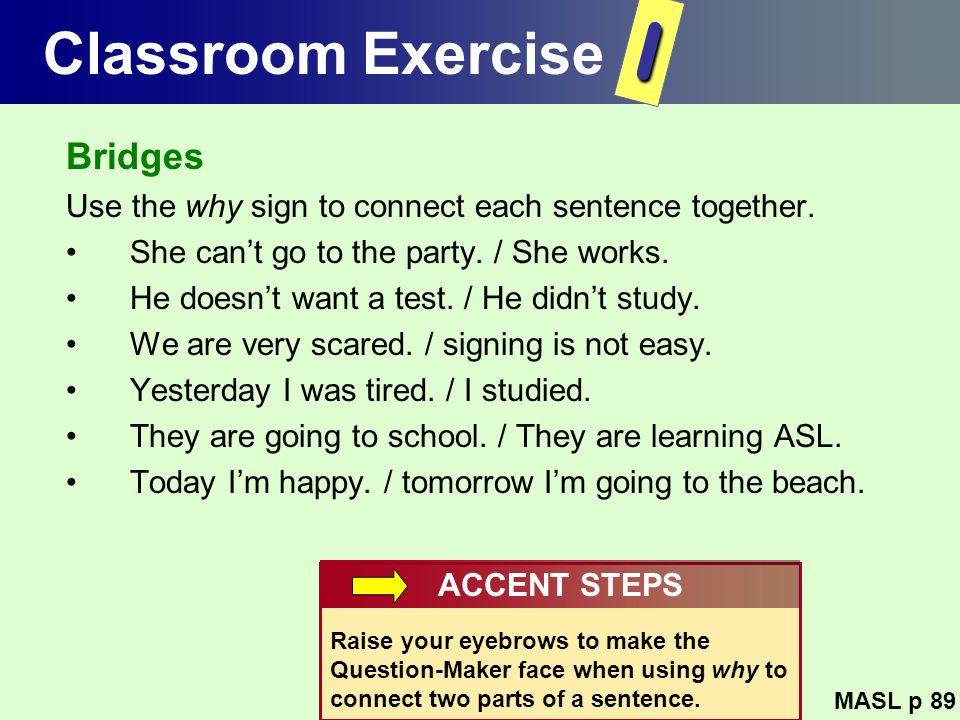 I Classroom Exercise Bridges
