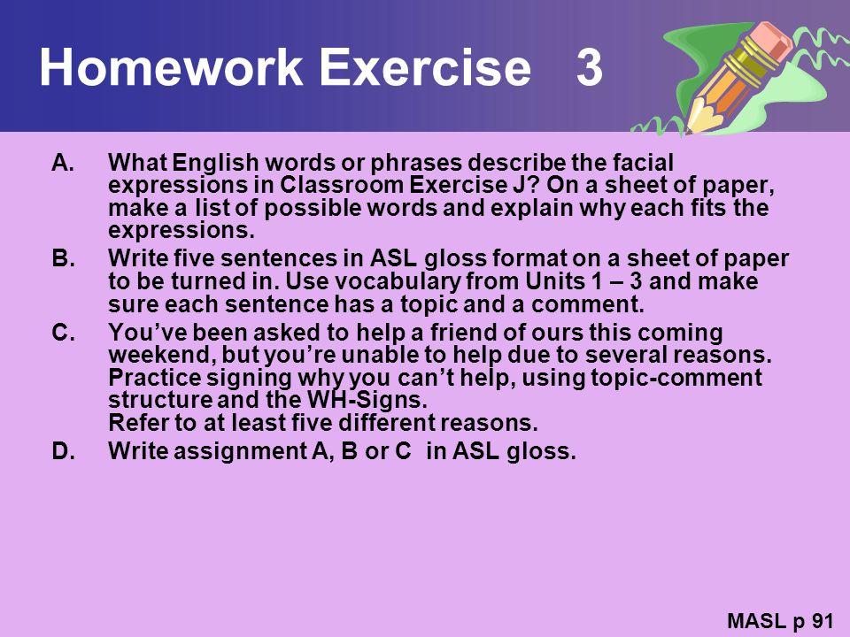 Homework Exercise 3