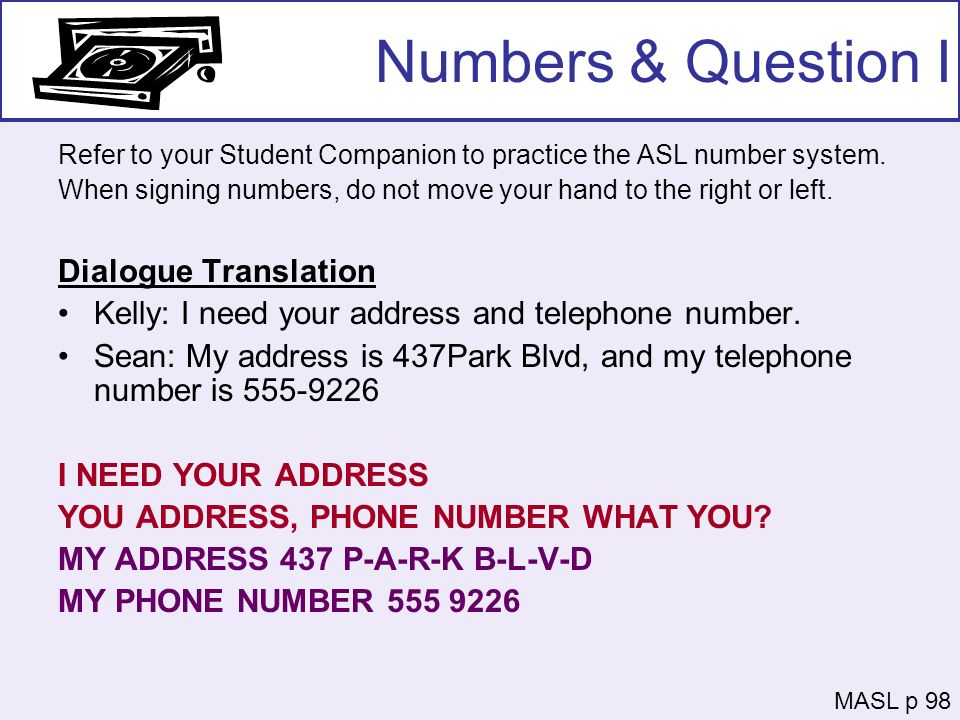 Numbers & Question I Dialogue Translation