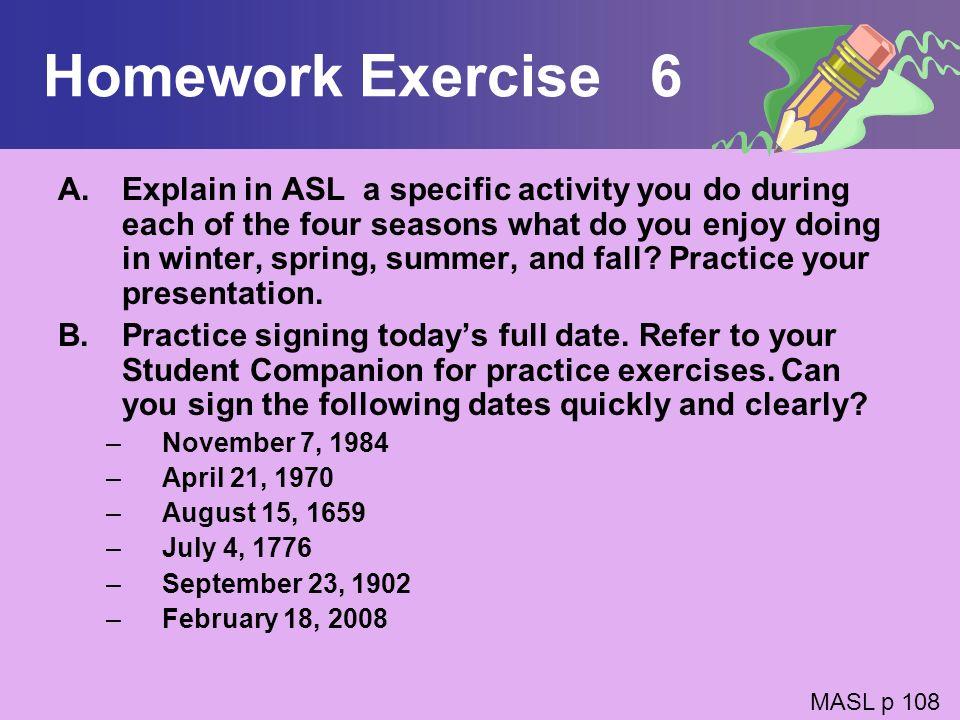 Homework Exercise 6