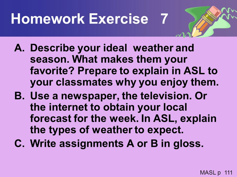 Homework Exercise 7