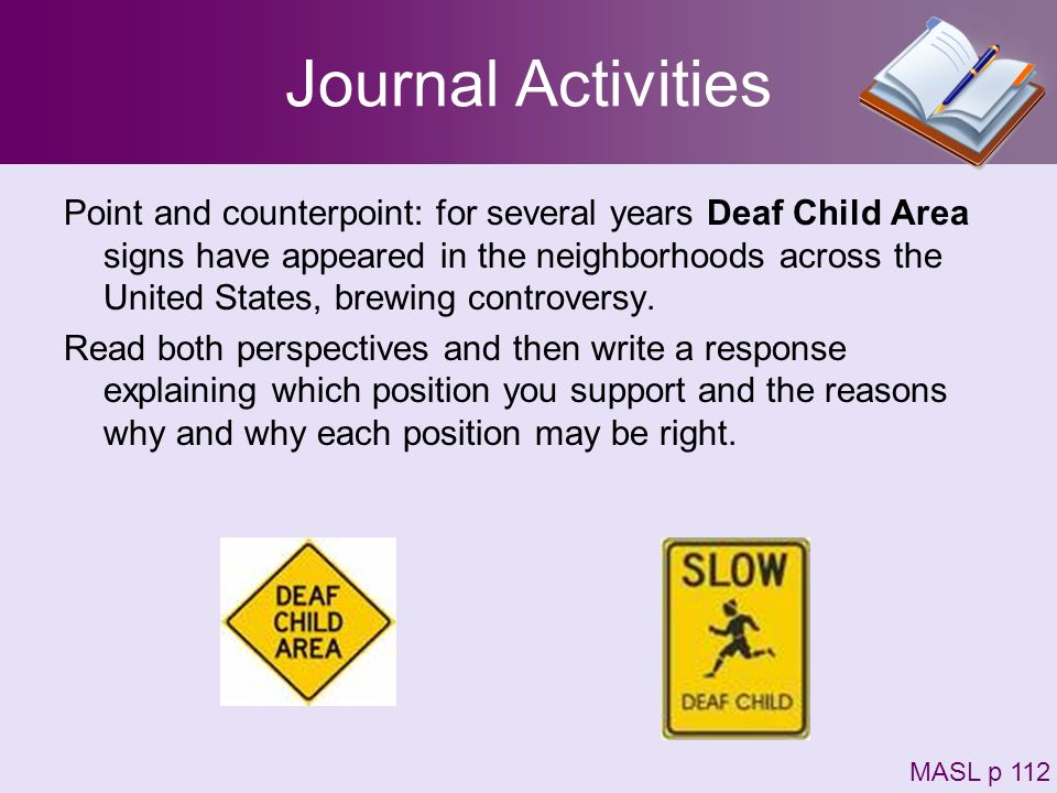Journal Activities