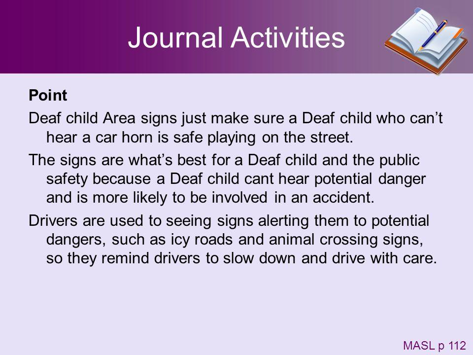 Journal Activities Point