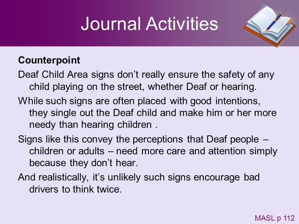 Journal Activities Counterpoint
