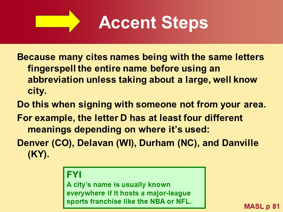 Accent Steps
